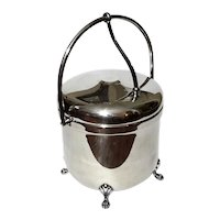 Sheffield Silver Company Hinged Lid Ice Bucket With Claw Feet
