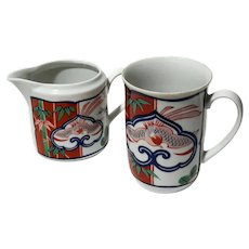 Imari Pattern Heirloom China Mug And Creamer By Neiman Marcus
