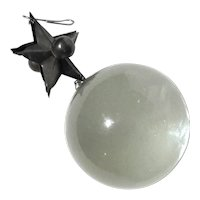 Large Crystal Ball With Silver Star