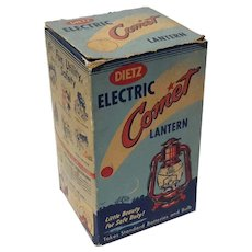 Dietz Red Electric Comet Lantern In The Original Box