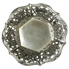 Pierced Floral Silverplated Bowl
