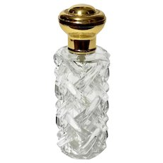 Vintage French Glass Spray Perfume Bottle