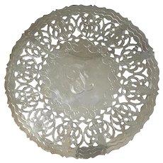 Italian Silver Plated Pierced Trivet