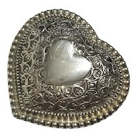 Silverplated Heart Jewel Box
