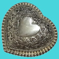Silverplated Heart Jewel Box