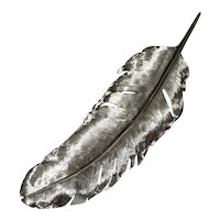 Michael Aram Silver Feather Tray