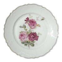 Antique German C.T. Altwasser Porcelain Rose Plate