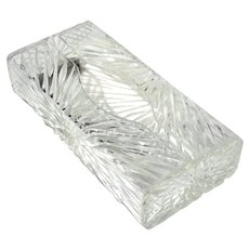 Hollywood Regency-Style Lucite Tissue Box Holder