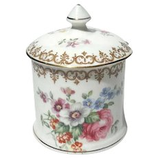 Crown Staffordshire England's Bouquet Jar