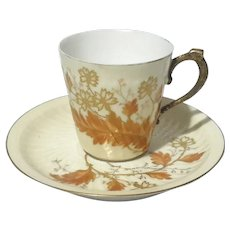 Limoges Porcelain Demitasse Cup & Saucer