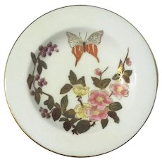 19th Century Royal Worcester Floral Ring Dish