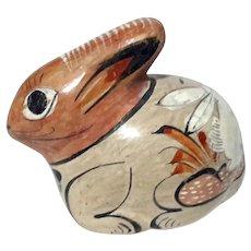Mexican Tonala Pottery Rabbit