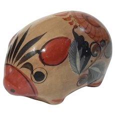 Mexican Tonala Pottery Pig Bank