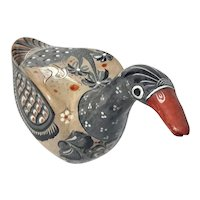 Large Signed Vintage Mexican Tonala Pottery Bird