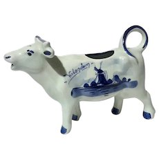 Hand-Painted Delft Pottery Cow Creamer