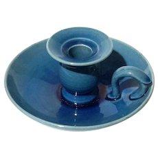 Japanese Awaji Pottery Chamber Candle Holder