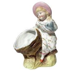 Antique German Bisque Porcelain Figural Vase