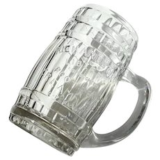 Richardson's Liberty Root Beer Advertising Glass Barrel Mug
