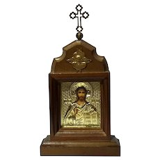 Vintage Wood Framed Russian Icon