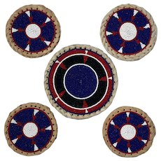 Hand Beaded Leather Coasters Made In Kenya