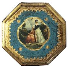Vintage Florentine Gilt Wood Plaque