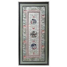 Framed Chinese Silk Embroidery