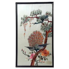 Framed Chinese Silk Hand Embroidery
