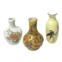 Lot Of Three Miniature Chinese Porcelain Vases