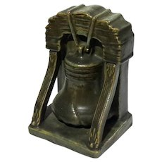Large Fulper Pottery Single Liberty Bell Bookend