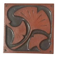 Asheville Pottery Ginkgo Leaf Tile