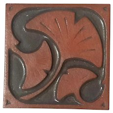Asheville Pottery Ginkgo Leaf Tile