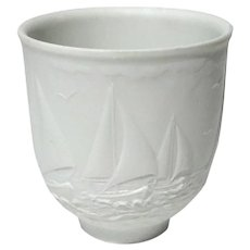 Lladro Sailboats Lithophane Votive Light