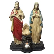 Plaster Statue Of Joseph And Mary