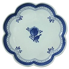 Royal Copenhagen Porcelain Scalloped Edge Serving Dish