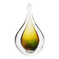 Art Glass Teardrop Paperweight By Marian Pyrcak