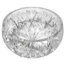 Vintage Czechoslovakian Cut Crystal Bowl
