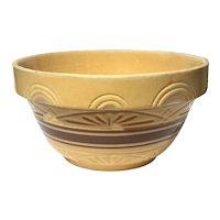 Large Vintage Banded Yelloware Bowl