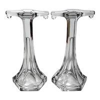 Pair Of Westmorland Glass Shelf Risers