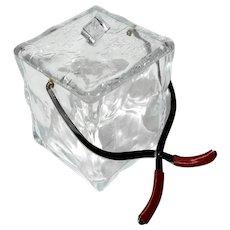 Mid-Century Modern Italian Eames Lucite Ice Bucket