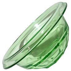 Anchor Hocking Green Depression Glass Bowl