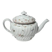 New Hall English Floral Teapot,  Circa 1800