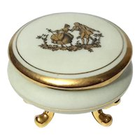 French Limoges Porcelain Footed Box