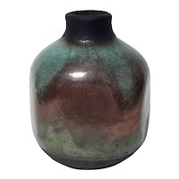 Signed Raku Art Pottery Vase