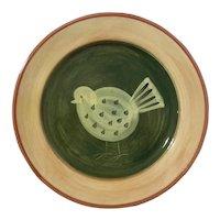 Large Italian Vietri Pottery Bird Platter