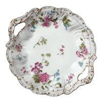 Antique German C.T. Altwasser Porcelain Handled Plate