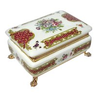 Italian Alfa Porcelain Box With Gilt Metal Mounts