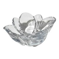 French Crystal Flower Bowl