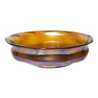 L C Tiffany Favrile Glass Bowl 1215