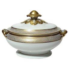 Vista Alegre Porcelain Lidded Sugar Bowl