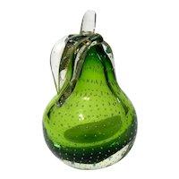 Murano Glass Pear By Alfredo Barbini